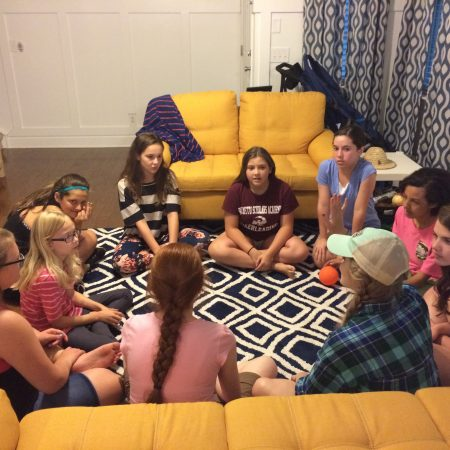 Student in small group bible study