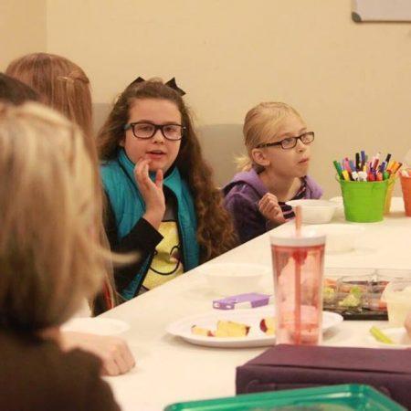 girls in Bible study