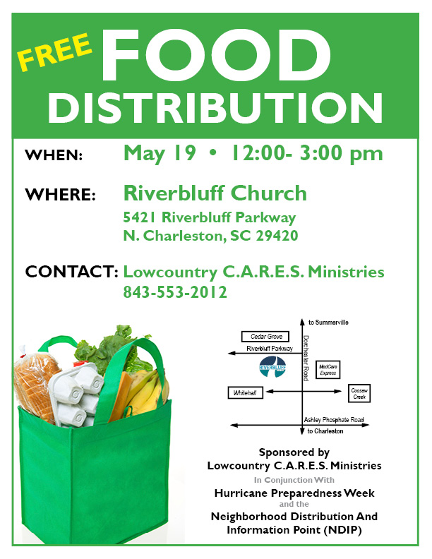 Free Food Distribution Flyer