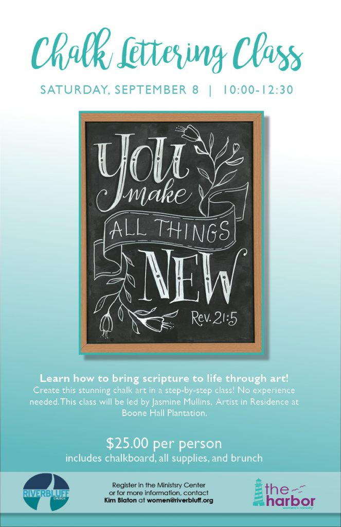 Chalk Lettering Class with Jasmine Mullins