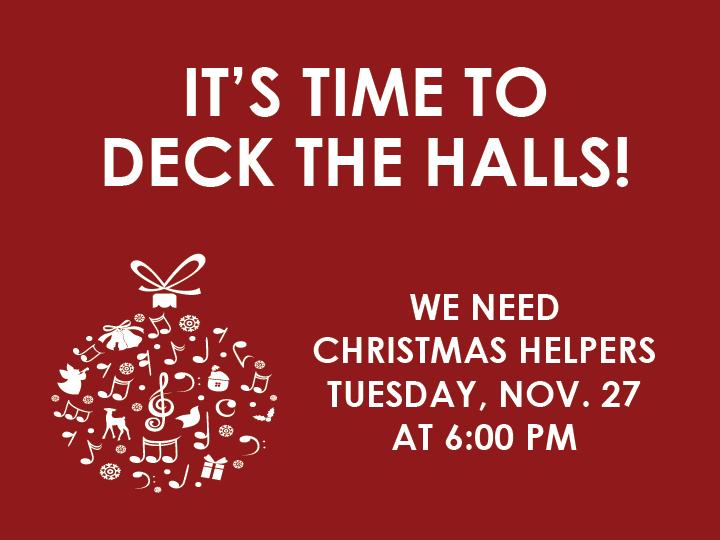 Deck the Riverbluff Halls