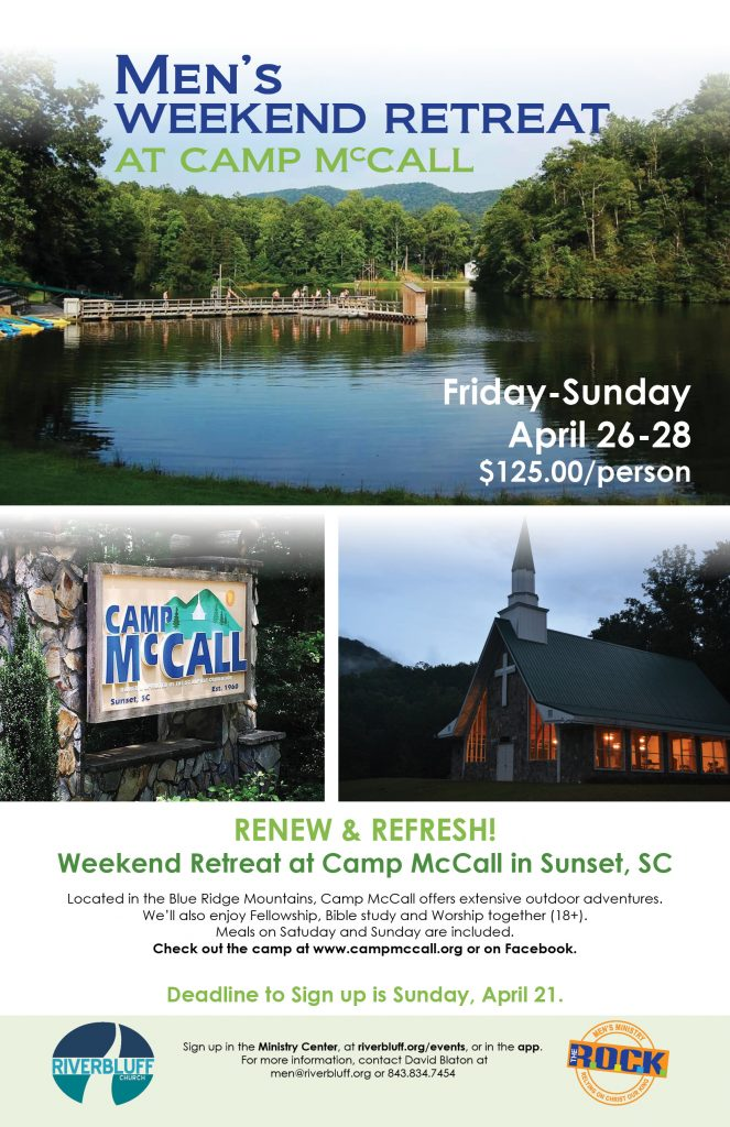 Men's Weekend Retreat at Camp McCall