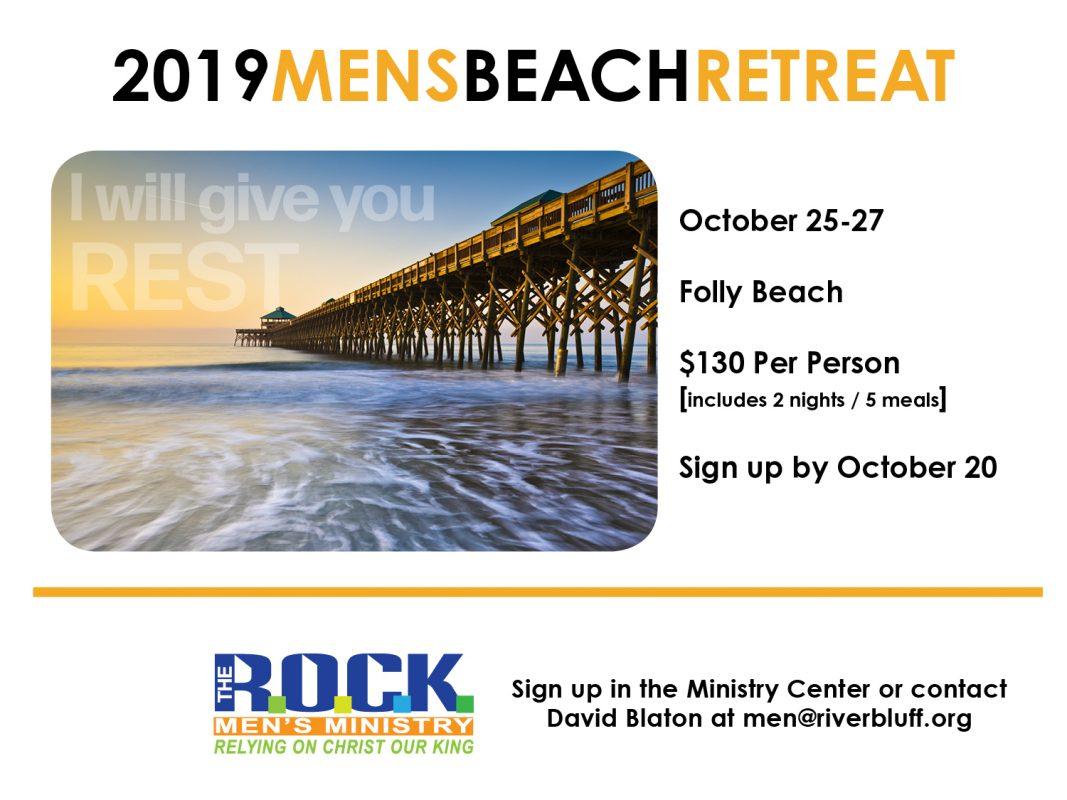 MENS BEACH RETREAT 2019