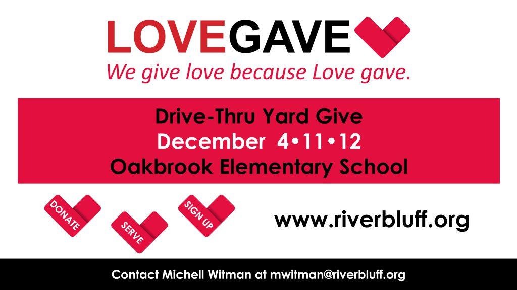 LoveGave Yard Give DONATION DROP-OFF